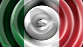 Italian flag waving stock video