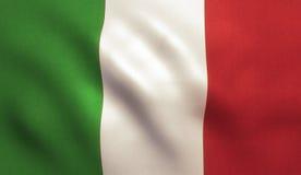 Italian Flag Waving - Italy Texture Royalty Free Stock Photos