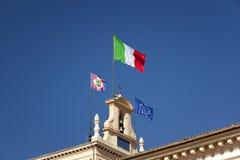 Italian flag waving in the sun Stock Photo