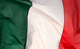 Italian flag in the wind 2 Royalty Free Stock Images