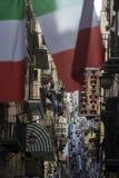 Italian flags in Naples, Italy Royalty Free Stock Photos