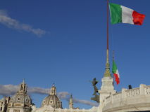 Italian flags in Rome Stock Images