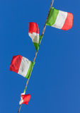 Italian flags Stock Images