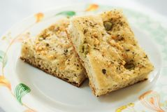Italian Focaccia Bread Royalty Free Stock Photos