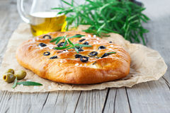 Italian focaccia bread Royalty Free Stock Photo