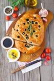 Italian focaccia bread Stock Image