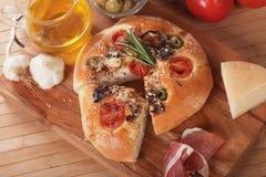 Italian focaccia bread Royalty Free Stock Photos