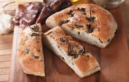 Italian focaccia bread Stock Photography