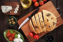 Italian focaccia bread Stock Images