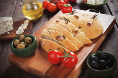 Italian focaccia bread Royalty Free Stock Images