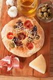Italian focaccia bread Stock Photography