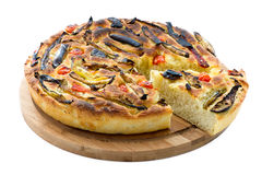 Italian focaccia with vegetables Royalty Free Stock Photography