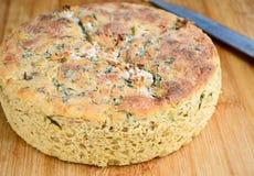 Italian focassia bread Royalty Free Stock Photo