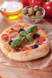 Italian foccacia bread Stock Images