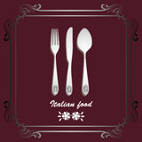 Italian food background Royalty Free Stock Images