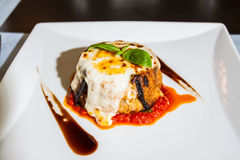 Italian food. Background in dics Stock Photography