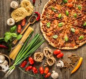 Italian food background Royalty Free Stock Image