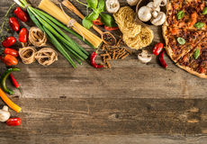 Italian food background Stock Image