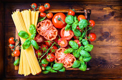 Italian food background. Royalty Free Stock Photography