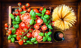 Italian food background. Stock Images