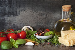 Italian Food Background Stock Photos