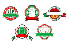 Italian food banners and labels Royalty Free Stock Photo