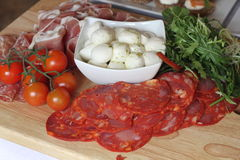 Italian Food Board Royalty Free Stock Images