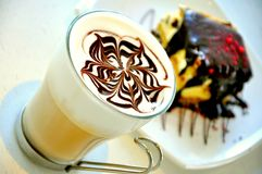 Italian food :cappuccino breakfast Royalty Free Stock Images