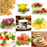 Italian food collage. Made from nine photographs Royalty Free Stock Image