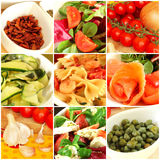 Italian food collage Royalty Free Stock Photography
