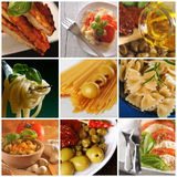 Italian food - collage Royalty Free Stock Photos