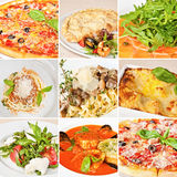 Italian food collage Royalty Free Stock Image