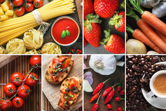 Italian food composition. Stock Photos