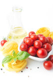 Italian food cooking ingredients Royalty Free Stock Images
