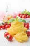 Italian food cooking ingredients Stock Images