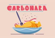 Italian food. Delicious pasta. Cartoon vector illustration. vector illustration