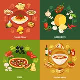 Italian Food 2x2 Design Concept royalty free illustration