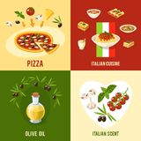 Italian Food Design Concept Stock Photography
