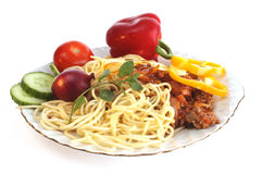 Italian food on a dish Royalty Free Stock Image