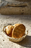 Italian food, dried cakes in a basket Royalty Free Stock Photo