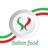 Italian food and flag Royalty Free Stock Photo