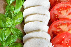 Italian food flag. Italian flag made of food royalty free stock photo
