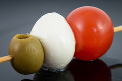Italian food flag Royalty Free Stock Photography