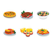 Italian food flat vector icon Stock Photos