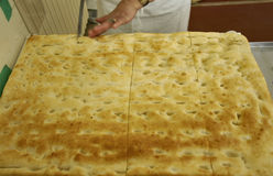 Italian food, genuine genoese cake Royalty Free Stock Photography