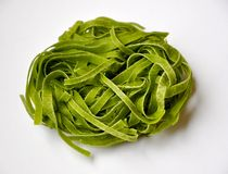 Italian food : green pasta Royalty Free Stock Image