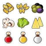 Italian food icon set Royalty Free Stock Image