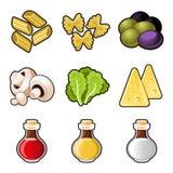 Italian food icon set royalty free illustration