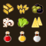 Italian food icon set Royalty Free Stock Photography