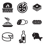 Italian Food Icons Stock Images